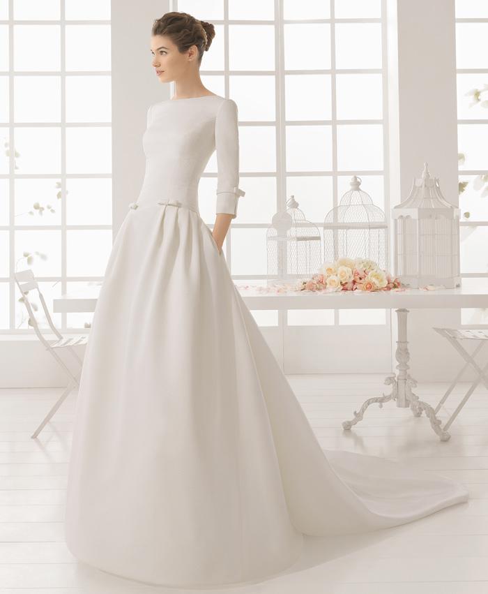vestido de novia micro de aire barcelona. colección 2016