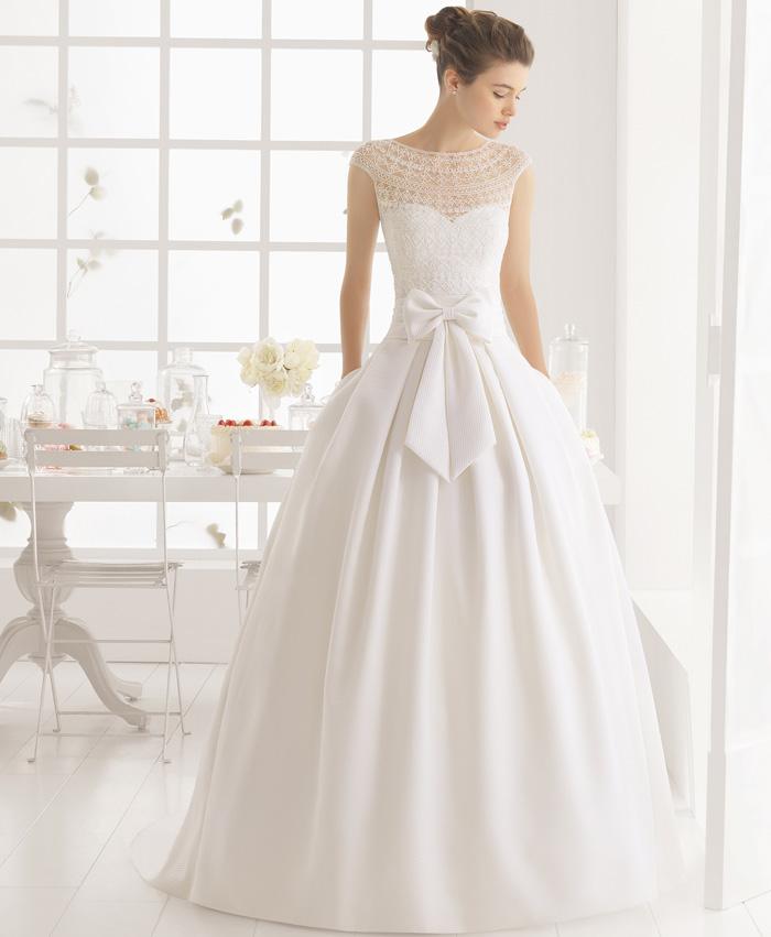 vestido de novia miel de aire barcelona. colección 2016