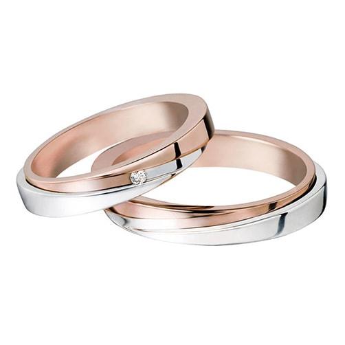 Polello 2251DBR-UBR Wedding Rings