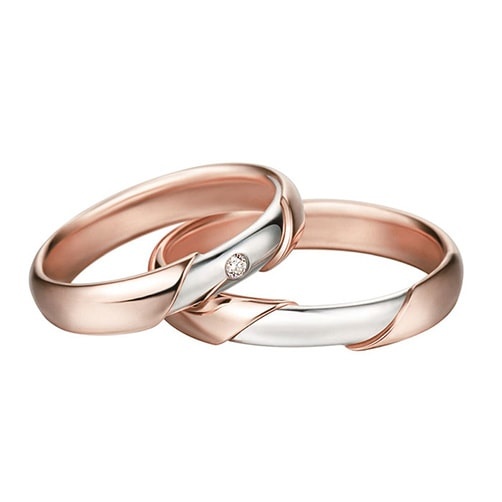 Polello 2321DBR-UBR Wedding Rings