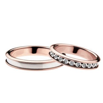 Alianzas de boda Polello 2596UBR-DBR
