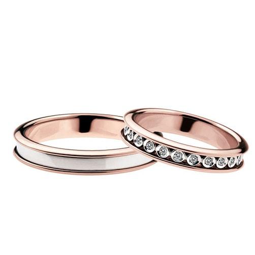 Polello 2596UBR-DBR Wedding Rings