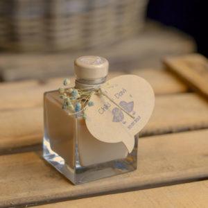 Botellita de vidrio Lucas decorada