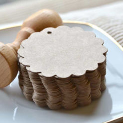 Etiqueta kraft en forma de galleta