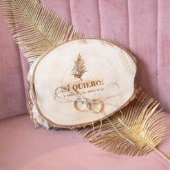 Rodaja de madera porta alianzas Rama del destino