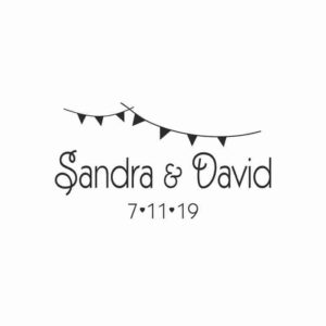 Sello de boda Banderines