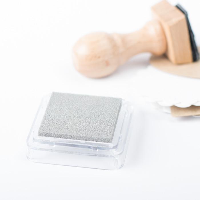 Tampón de tinta para sellos personalizados color gris