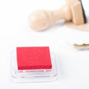 Tampón de tinta para sellos personalizados color rojo