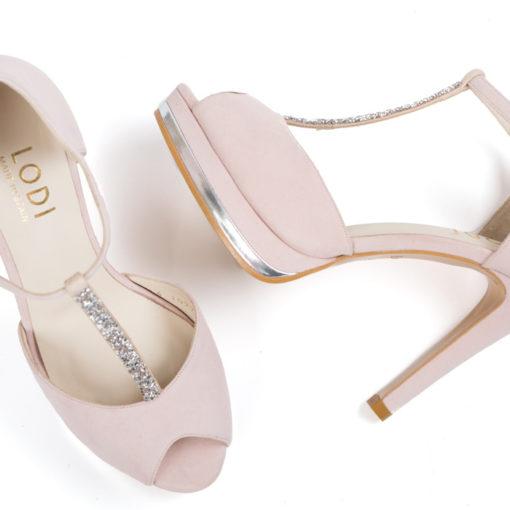Zapatos de novia LODI Pauli Rosa