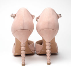 LODI Vurean shoes made of pale pink suede
