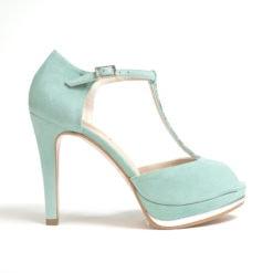 LODI Pauli aqua green shoes