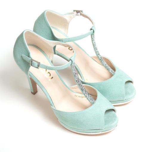 Zapatos LODI Pauli verde agua